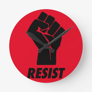 resist fist round clock