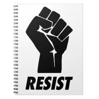 resist fist spiral notebook