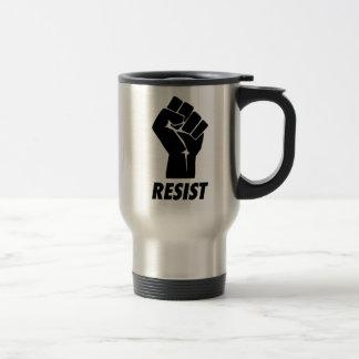 resist fist travel mug