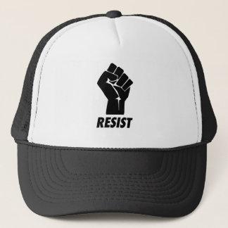 resist fist trucker hat