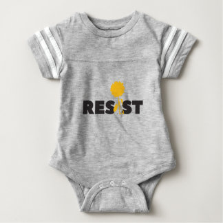 resist flower baby bodysuit