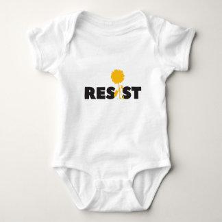 resist flower baby bodysuit