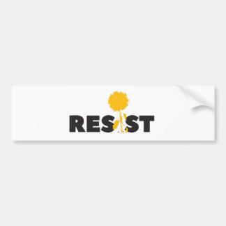 resist flower bumper sticker