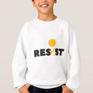 resist flower sweatshirt