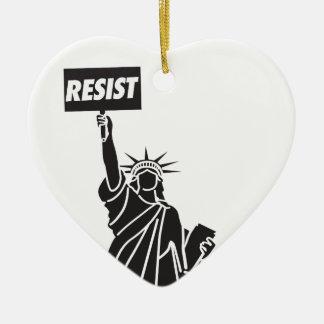 Resist_for_Liberty Ceramic Ornament