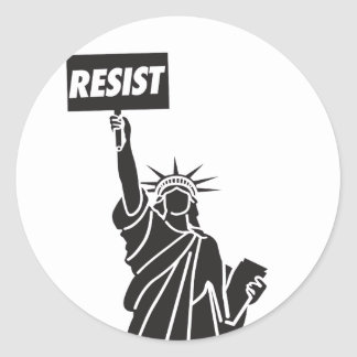 Resist_for_Liberty Classic Round Sticker