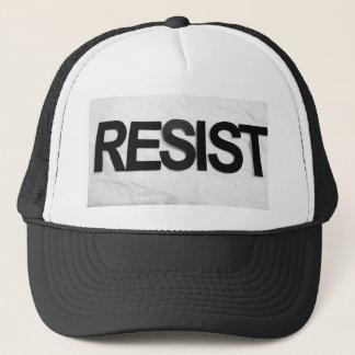 RESIST - handmade text by me rw Trucker Hat
