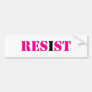 RESIST; I Resist-Resistance Movement Bumper Sticker