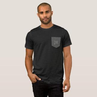 Resist Insist Persist Gray Pocket T-shirt