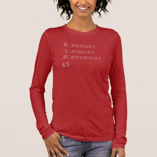 Resist Insist Persist: Red Longsleeved T-shirt