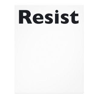 Resist Letterhead Design