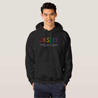 Resist Men's Basic Dark Hoodie