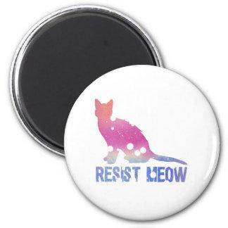 Resist meow feminist cat 2 inch round magnet