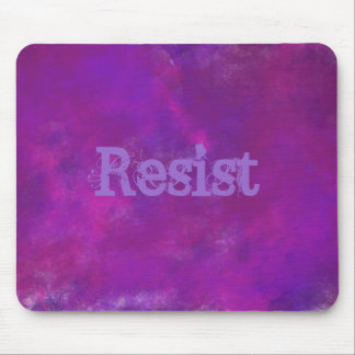 Resist on Purple Abstract Texture Mouse Pad