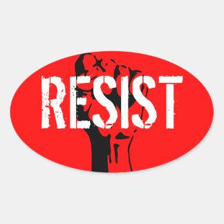 Resist Oval Sticker