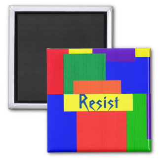 Resist Patchwork Rainbow Quilt Design Magnet