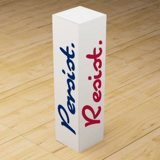 Resist Persist Resistance Red White and Blue Wine Gift Boxes