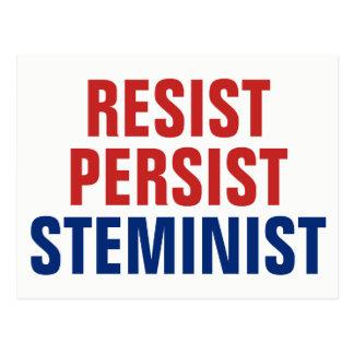 Resist Persist STEMinist STEM Resistance Patriotic Postcard