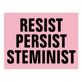Resist Persist STEMinist STEM Resistance Pink Postcard