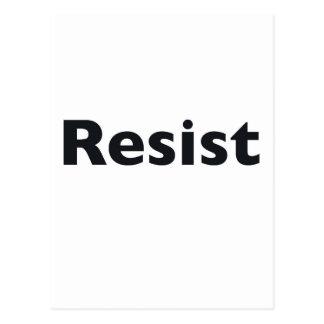 Resist Postcard