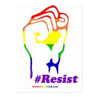 #Resist Postcard