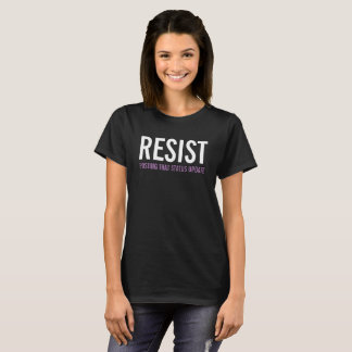 Resist posting that status update t-shirt