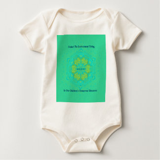 #Resist Protect Environment Anti-Trump Mandala Baby Bodysuit