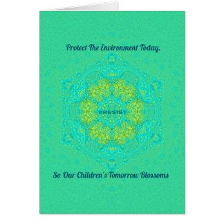 #Resist Protect Environment Anti-Trump Mandala Card