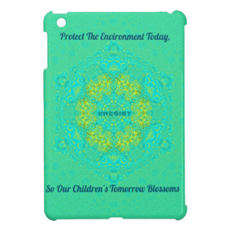 #Resist Protect Environment Anti-Trump Mandala Case For The iPad Mini