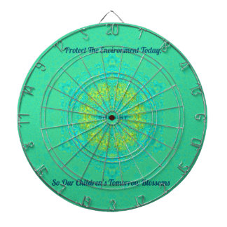 #Resist Protect Environment Anti-Trump Mandala Dartboard
