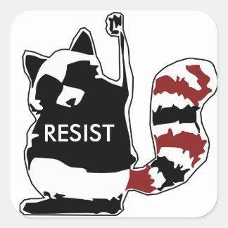 Resist Raccoon American Flag Stickers