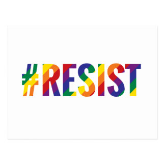 resist rainbow postcard