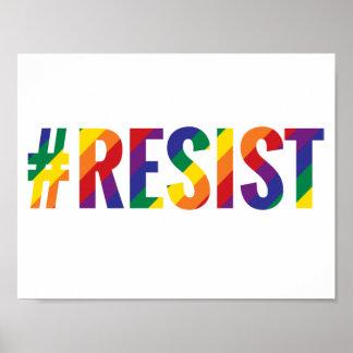 resist rainbow poster