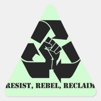 Resist, Rebel, Reclaim Triangle Sticker