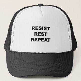 Resist, Rest, Repeat Trucker Hat