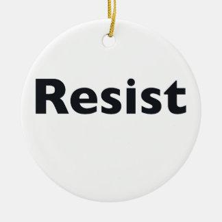 resist round ceramic ornament