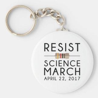 Resist Science March Basic Round Button Keychain
