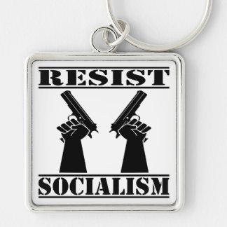 Resist Socialism Pistols Key Chain