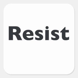 Resist Square Sticker