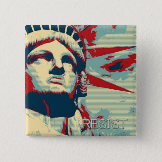 RESIST - Statue of Liberty 2 Inch Square Button