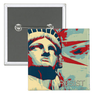 RESIST - Statue of Liberty 2 Inch Square Button
