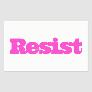RESIST Sticker - hot pink
