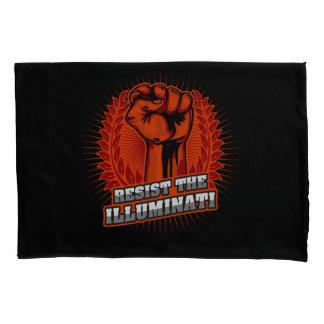 Resist The Illuminati Orange Raised Fist Pillowcase