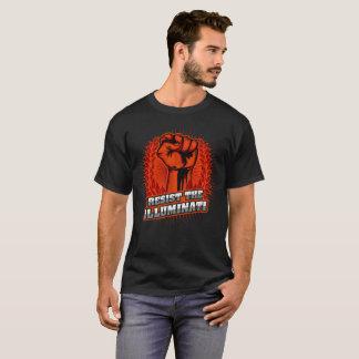 Resist The Illuminati Orange Raised Fist T-Shirt