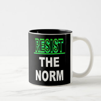 Resist The Norm Two-Tone Coffee Mug