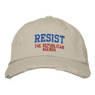 Resist the Republican Agenda Baseball Cap