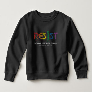 Resist Toddler Dark Sweatshirt