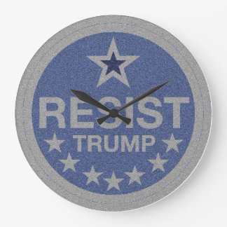 Resist Trump Large Clock