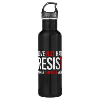 Resist Trump - Love Not Hate Makes America Great - 710 Ml Water Bottle