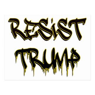 Resist Trump Postcard
